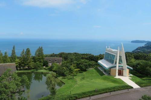 小田原ヒルトン5階からの眺めコーナーツイン