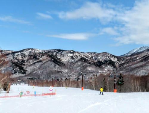 奥志賀で子供とスキー