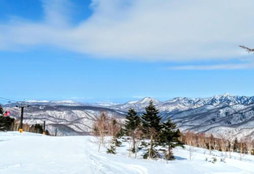 焼額山子供とスキー
